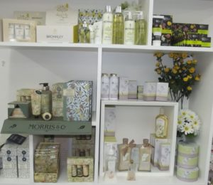 Toiletries in Trevena Cross gift department