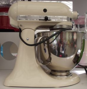 Cream KitchenAid Artisan Stand Mixer