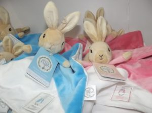 Peter Rabbit blue and pink blankies