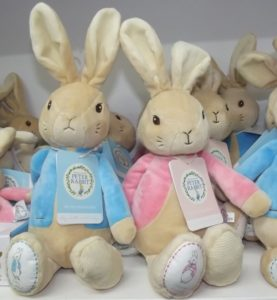 Peter Rabbit blue and pink cuddlies