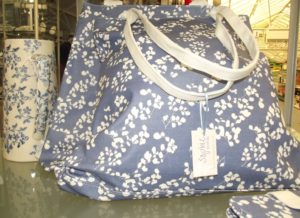 Pretty blue and white bag