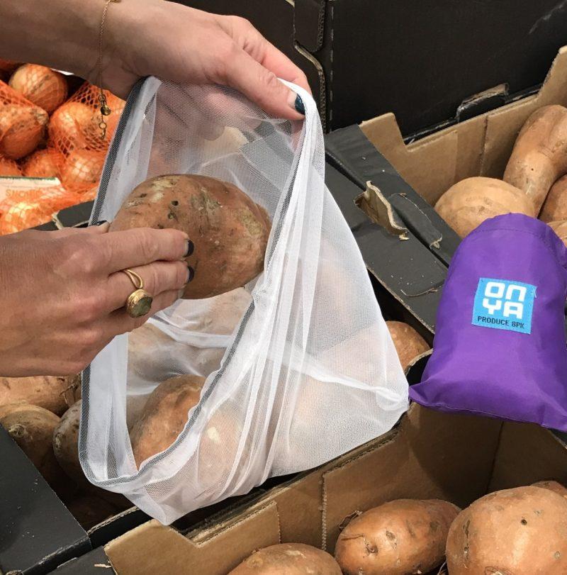 sweet potatoes in onya produce bags