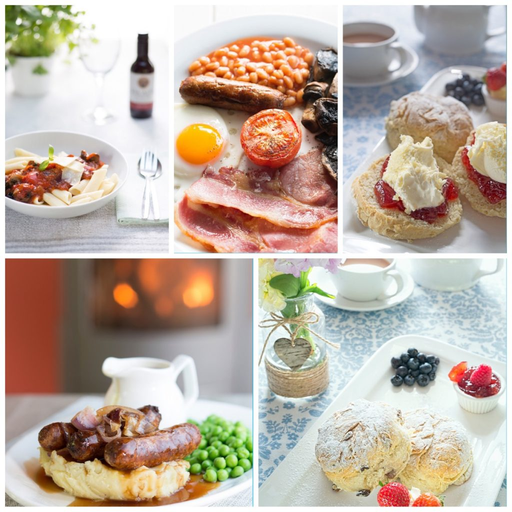 example food selection in cafe