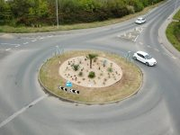 Aerial shot of roundabout