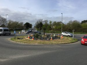 Roundabout at Helston Rugby Club