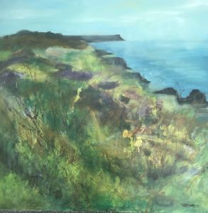 Rachel painting of Rinsey footpath