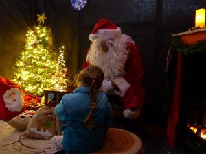 Christmas at Trevena Cross, Girl in Santa's Grotto