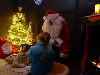 Christmas at Trevena Cross, Girl in Santa's Grotto