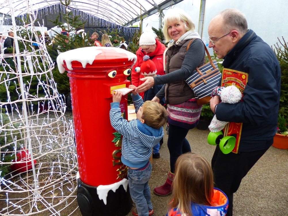 Christmas at Trevena Cross, posting Christmas list in postbox