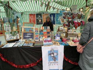 Cornish magpie stall at Trevena Cross market
