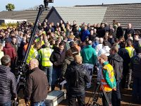 Nick Knowles at DIY SOS project, Carbis Bay