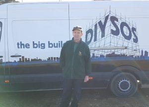 John in front of DIY SOS van
