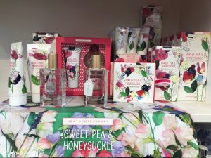 Sweet Pea & Honeysuckle toiletries