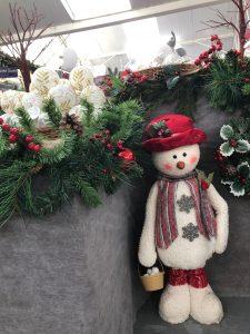 snowman ornament at Trevena Cross