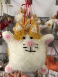 cat Christmas tree bauble