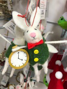 rabbit Christmas tree bauble