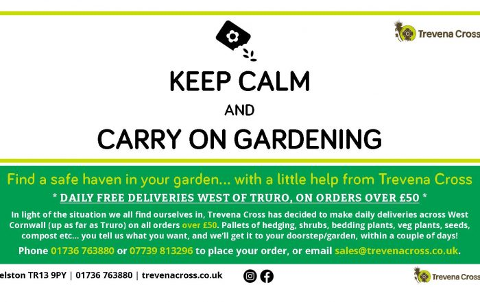 Free local deliveries on orders over £50