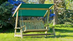 Alexander Rose Pine farmers Swing Seat - garden furniture at Trevena Cross