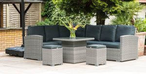 Katie Blake Sandringham KD corner set - garden furniture at Trevena Cross