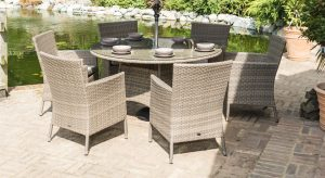 Katie Blake sandringham 6 seat round set - garden furniture at Trevena Cross
