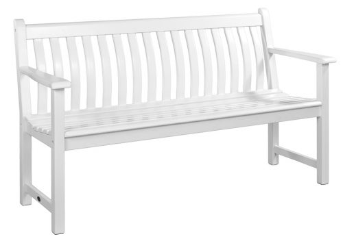New England White Painted Broadfield Bench 5ft