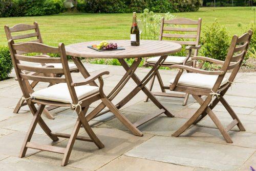 Sherwood Four Seat Table (1.1m) Set