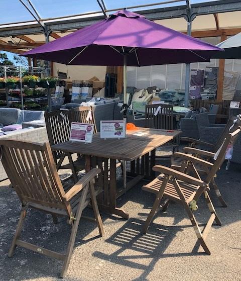 Sherwood Rectangular Table & Recliner Chair Set (1.65 x 1m)