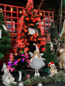 Lit fibre optic Christmas tree