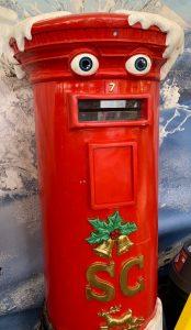 Christmas postbox - Christmas at Trevena Cross
