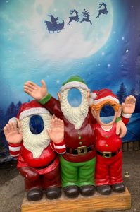 Cut out elf faces - Christmas at Trevena Cross