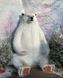 Giant polar bear - Christmas at Trevena Cross
