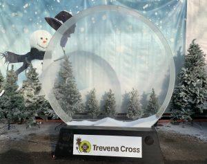 Giant snowglobe - Christmas at Trevena Cross