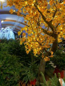 Lit up artificial tree - Christmas at Trevena Cross