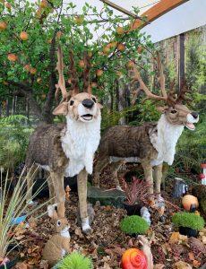 Singing reindeer - Christmas at Trevena Cross