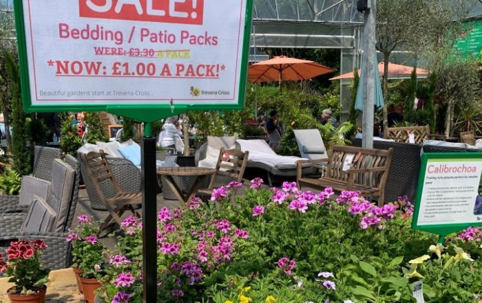 Sale, £1 a bedding-patio pack