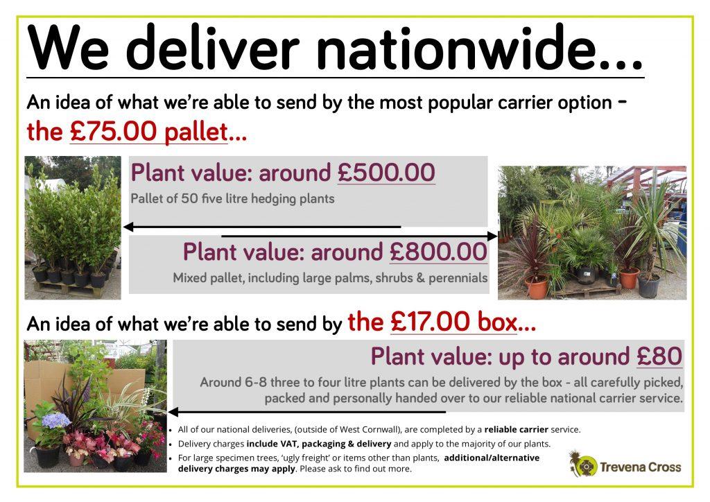 We deliver nationwide...